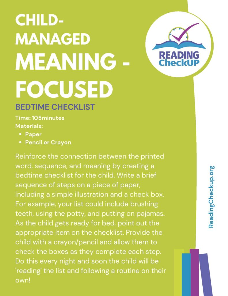 Reading Checkup | Reading Activities for Kids